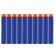 image of 10PCS SAFETY SHOOTING EVA BULLETS SOFT DARTS TOYS FOR BLASTER NERF GUN N - STRIKE (DEEP BLUE) -