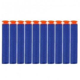 image of 10PCS SAFETY SHOOTING EVA BULLETS SOFT DARTS TOYS FOR BLASTER NERF GUN N - STRIKE (DEEP BLUE) -