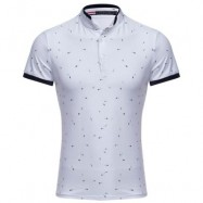 image of CASUAL PATTERN PRINTED SLIM FIT MALE SHORT SLEEVE SHIRT (WHITE M/L/XL/2XL/3XL) M