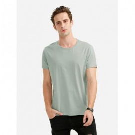 image of ROUND NECK TEE (GREEN) M