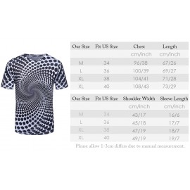 image of 3D SPIRAL POLKA DOT PRINT TRIPPY T-SHIRT (COLORMIX) XL