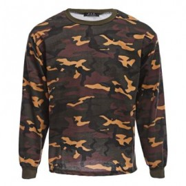 image of STYLISH CAMOUFLAGE ROUND NECK LONG SLEEVE MALE PULLOVER SHIRT (COLORMIX) M
