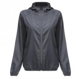 image of OUTDOOR SPORT HIKING CAMPING QUICK DRY WATERPROOF BREATHABLE JACKET LIGHTWEIGHT COAT (GRAY, SIZE M/L/XL/XXL) M
