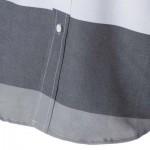 TRENDY DISTINCT COLOR BLOCK STRIPES PRINT TURN-DOWN COLLAR SLIMMING LONG SLEEVES MEN'S SHIRT (COLORMIX) XL