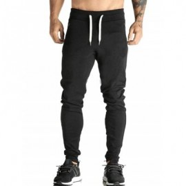 image of SKINNY DRAWSTRING WAIST JOGGER PANTS (BLACK) 2XL