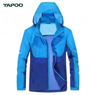 image of TAPOO CASUAL NEW STYLE LETTER PRINT COLOR BLOCK MALE HOODED ULTRA THIN COAT M
