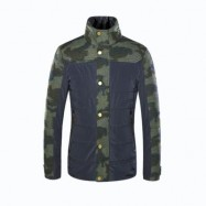 image of STAND COLLAR CAMO PATTERN SPLICED JACKET ODM DESIGNER (CAMOUFLAGE S/M/L/XL/XXL) L