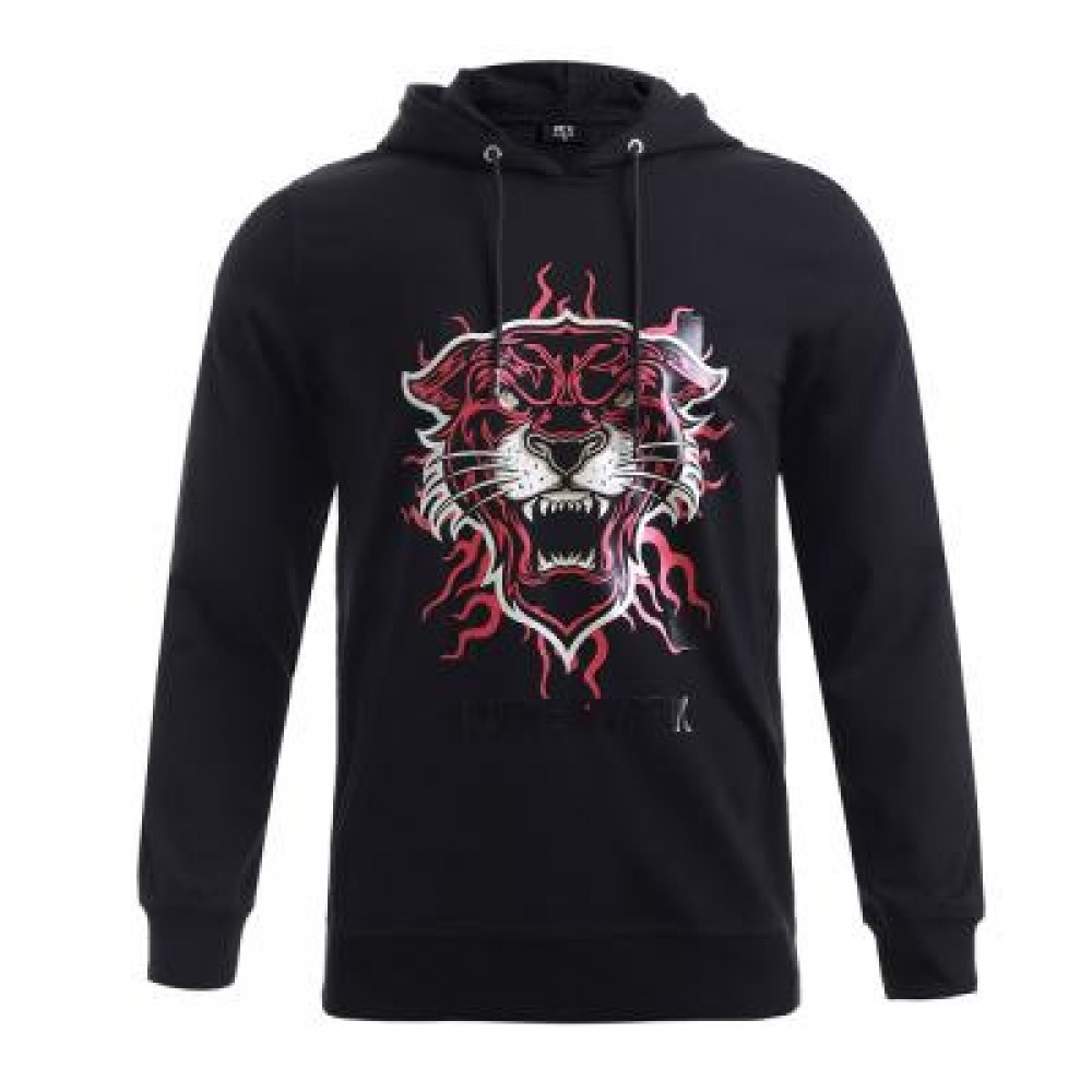 BOYNEWYORK 3D TIGER PRINTED LONG SLEEVE HOODIE (BLACK S/M/L/XL) M
