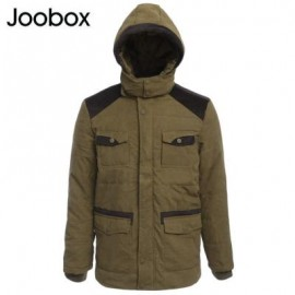 image of JOOBOX CASUAL MULTI-POCKET DESIGN MALE WARM HOODED COAT XL