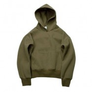 image of CASUAL POCKET DESIGN SOLID COLOR LONG SLEEVE HOODIES FOR MEN (GREEN, SIZE M/L/XL/2XL) M