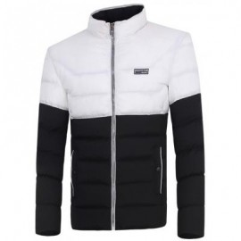 image of ZIP UP TWO TONE PADDED JACKET (BLACK) 3XL