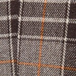 ONE BUTTON TWEED PLAID CHECKERED BLAZER (COFFEE) XL