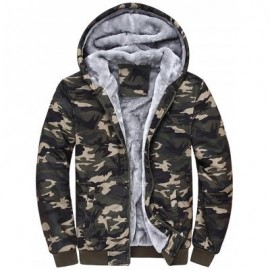 image of ZIP UP CAMOUFLAGE FLOCKING HOODED JACKET (CAMOUFLAGE) L