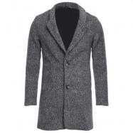 image of CASUAL TURN DOWN COLLAR MALE WOOLEN CLOTH COAT M