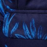 LAPEL ONE BUTTON FLORAL PRINT BLAZER (BLUE) XL