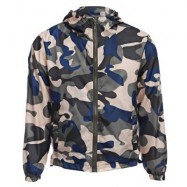 image of STYLISH CAMOUFLAGE HOODED MALE SUN PROTECTION COAT (BLUE AND YELLOW) XL