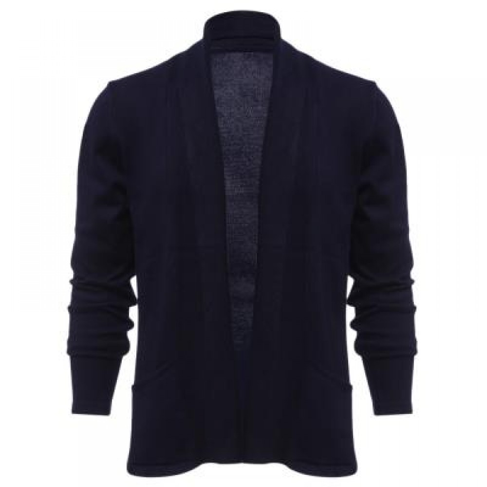 CASUAL SOLID COLOR MALE LONG SLEEVE KNITWEAR (CADETBLUE) 3XL