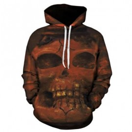 image of 3D SKULL PRINT PULLOVER HOODIE (COLORMIX) 4XL