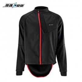 image of SAHOO CYCLING FULL ZIPPERED WIND-RESISTANT WARM JACKET (BLACK) L