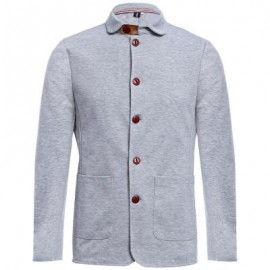 image of STYLISH PURE COLOR STAND COLLAR MALE SLIM FIT COAT (DEEP GRAY M/L/XL/XXL) M