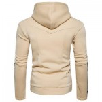 EDGING ZIPPER FLEECE PULLOVER HOODIE (BEIGE) L
