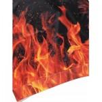 KANGAROO POCKET FLAME PRINT HOODIE (BLACK) 3XL