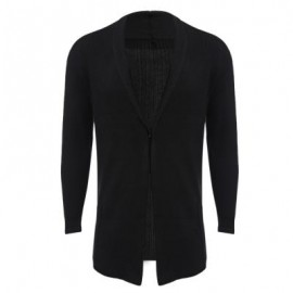 image of CASUAL PURE COLOR LONG SLEEVE SLIM FIT MALE SWEATER (BLACK M/L/XL/XXL) M
