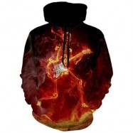 image of SKELETON 3D PRINT HIPSTER HALLOWEEN HOODIE (COLORMIX) 2XL