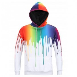 image of DRIP PAINT 3D PRINT PULLOVER HOODIE (COLORMIX) XL