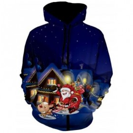 image of SANTA CLAUSE CHRISTMAS EVE PULLOVER HOODIE (COLORMIX) 3XL