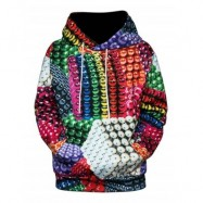image of 3D COLORFUL MAGNETIC BALLS PRINT PULLOVER HOODIE (COLORMIX) M