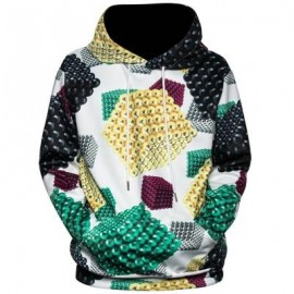image of 3D MAGNETIC BALLS PRINT PULLOVER HOODIE (COLORMIX) L