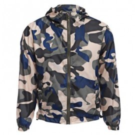 image of STYLISH CAMOUFLAGE HOODED MALE SUN PROTECTION COAT L