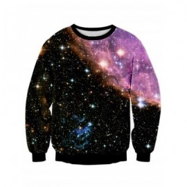 image of STARRY SKY DIGITAL PRINT GALAXY SWEATSHIRT (COLORMIX) L