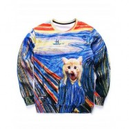 image of KITTEN 3D COLORFUL PRINT CREWNECK SWEATSHIRT (COLORMIX) 2XL