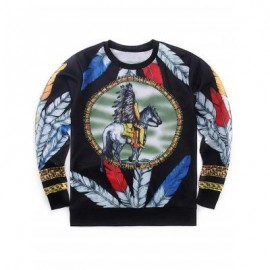 image of INDIAN TOTEM HIP-HOP STYLE PRINTED SWEATSHIRT (COLORMIX) M