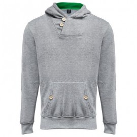 image of POCKET DESIGN SLIM FIT LONG SLEEVE CASUAL HOODIES FOR MEN (LIGHT GRAY, SIZE M/L/XL/2XL) M
