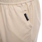 LINEN BREATHABLE STRAIGHT ELASTIC BAND MALE CAUSAL PANTS (KHAKI) 2XL