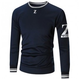 image of CREW NECK Z PRINT SWEATSHIRT (CADETBLUE) M