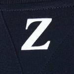 CREW NECK Z PRINT SWEATSHIRT (CADETBLUE) M