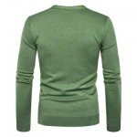 V NECK KNITTING BUTTON UP CARDIGAN (GREEN) L