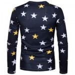 V NECK CHRISTMAS SANTA STAR PRINT UGLY T-SHIRT (COLORMIX) M