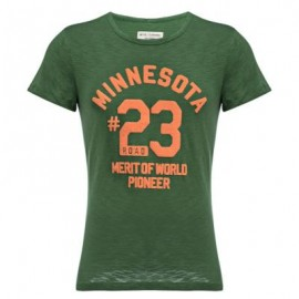 image of CASUAL ROUND COLLAR SHORT SLEEVE LETTER NUMBER PRINT T-SHIRT FOR MEN (GREEN L/XL/2XL) L