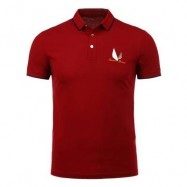 image of HALF BUTTON EMBROIDERY POLO SHIRT S
