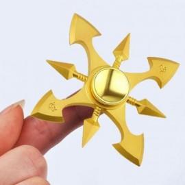 image of METAL SPINNER TOY STRESS REDUCER FINGER GYRO (GOLDEN) -