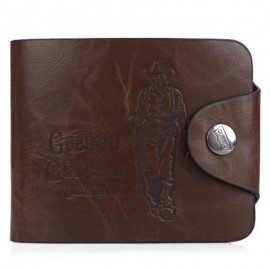 image of FIGURE PATTERN LETTER EMBELLISHMENT HASP HORIZONTAL WALLET FOR MEN (Coffee)