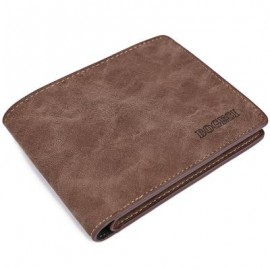 image of STYLISH SOLID COLOR SHORT HORIZONTAL WALLET FOR MEN (LIGHT COFFEE) 12.50 x 1.50 x 10.10 cm