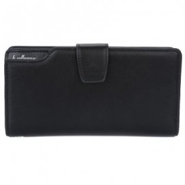 image of MULTI FUNCTIONAL VERTICAL CLUTCH WALLETS ZIPPER CARD HOLDER FOR MEN (BLACK) 10.5 x 3 x 19.5