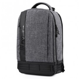 image of PROWELL DC22095 DSLR CAMERA CANVAS PHOTOGRAPHY BAG BACKPACK (DEEP GRAY)