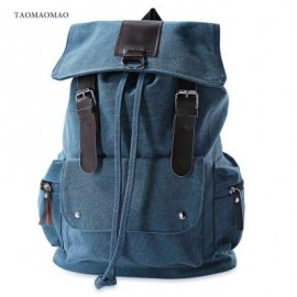 image of TAOMAOMAO CASUAL LARGE CAPACITY POCKET DESIGN BACKPACK (BLUE)